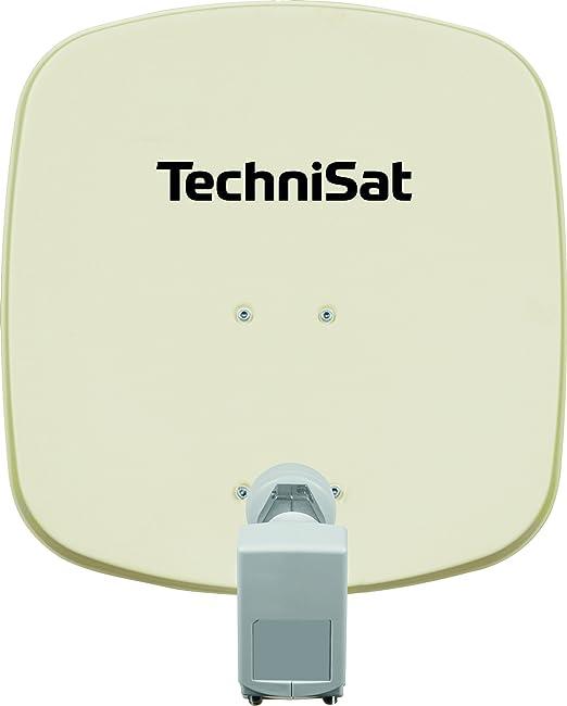 Technisat Digidish 45 Satelliten Schüssel Für 2 Teilnehmer 45 Cm Kleine Sat Anlage Komplettset Mit Wandhalterung Und Universal Twin Lnb Beige Heimkino Tv Video