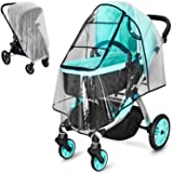 Stroller Rain Cover and Baby Stroller Mosquito Net(2-Piece Set),Baby Travel Weather Shield, Universal, Windproof Waterproof,