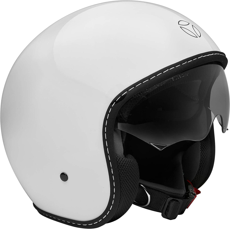 Momo Helm Eagle Pure Ivory Glos Blk Xxs