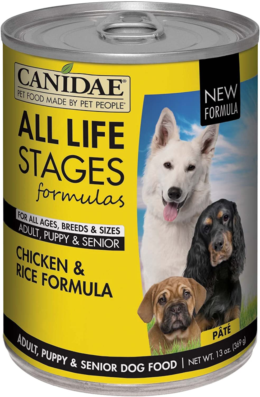 Canidae Life Stages Canned Dog Food For Puppies, Adults & Seniors, 12 Pack