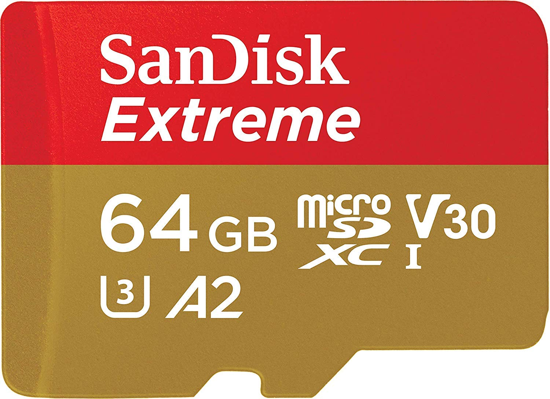 U3 Refurbished V30 SanDisk Extreme Plus 64GB MicroSDXC Memory Card up to 100MB//s /… Class 10 A1