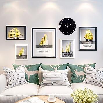 WUXK Das Wohnzimmer Minimalistischen Modernen Foto Wand Dekoration Schlafzimmer  Ideen Teenager Hintergrund Foto Wanduhr Bilderrahmen Wand