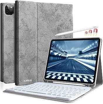 Teclado para iPad Pro 11 2021/2020/2018 Funda, Teclado Español (Ñ) Inalámbrica para iPad 11 Pulgadas, Funda para iPad 11 2021, ...