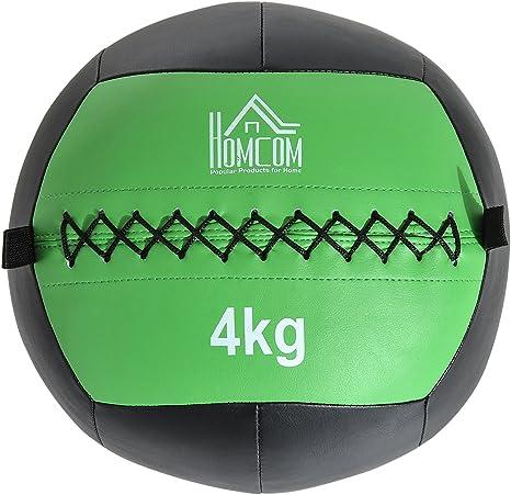 HOMCOM Balón Medicinal de Crossfit 4Kg con Asas Tipo Pelota de ...