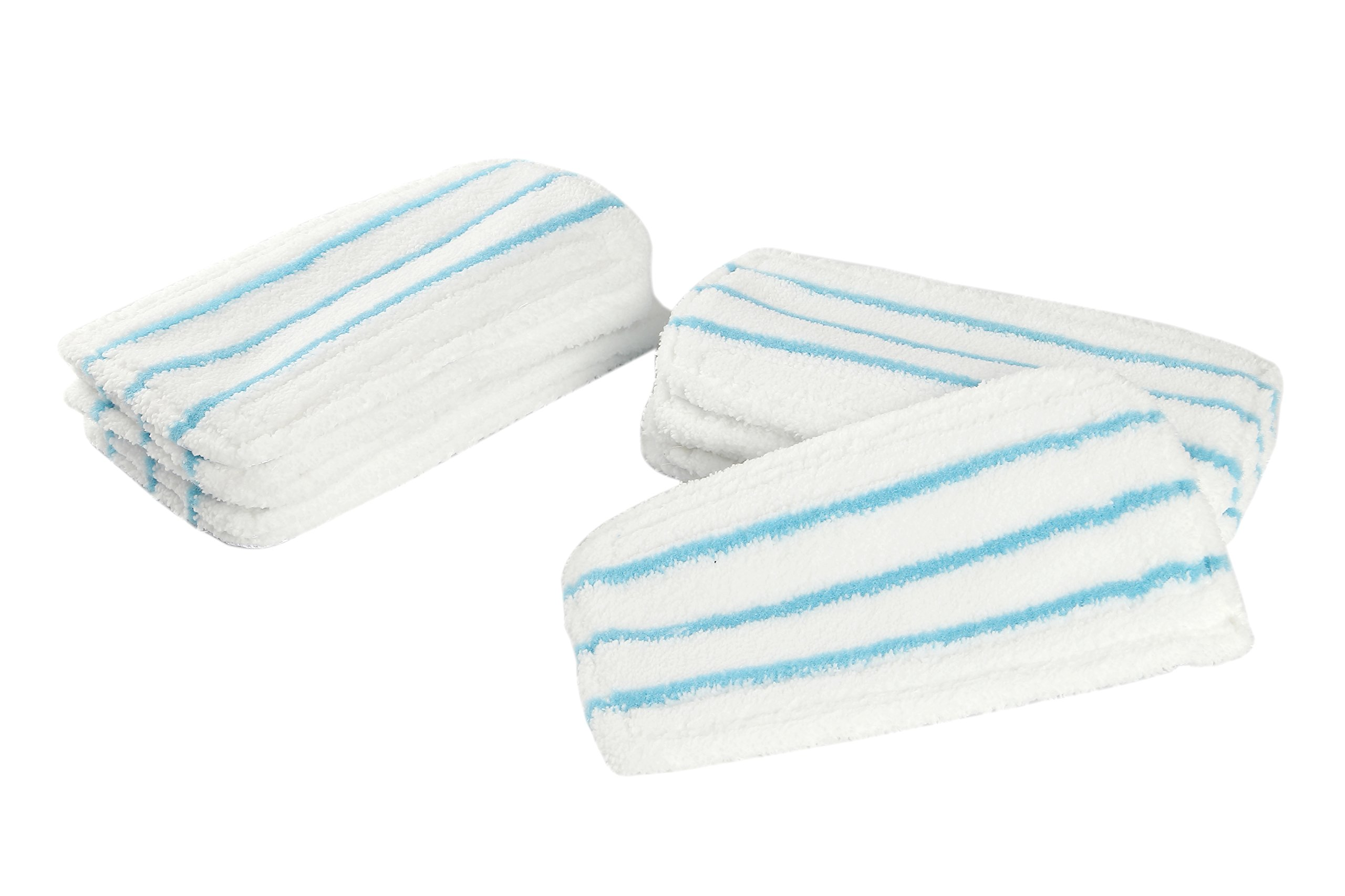 LTWHOME Microfiber Pads Fit for Black + Decker Steam Mop 1600 Series,HSMC1300FX HSMC1321 HSMC1361SGP,Compare to SMP20(Pack of 12) by LTWHOME