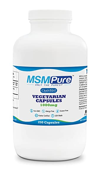 Amazon com: Kala Health MSMPure Vegetarian Capsules, 1000-mg/capsule