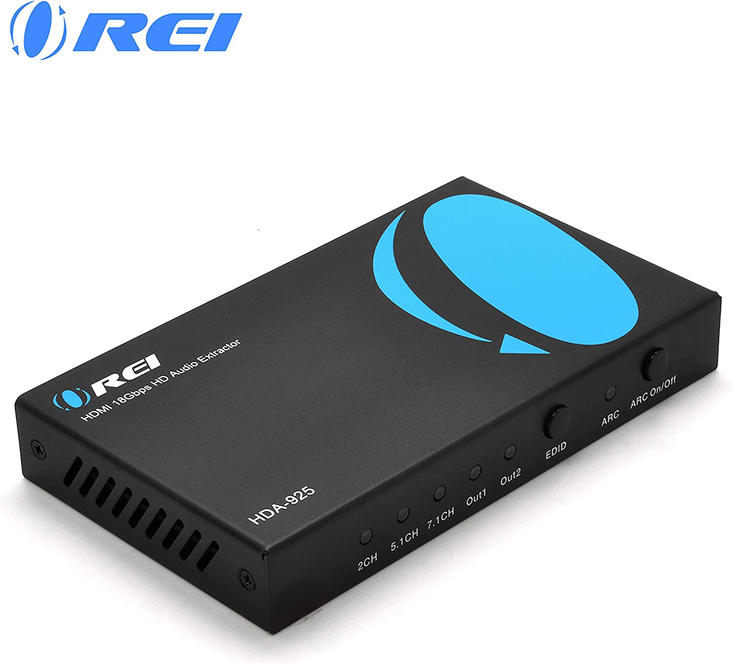 Orei 4K 60Hz 18G HDMI 2.0 Audio Converter Extractor ARC Support - SPDIF + 3.5mm Output - HDCP 2.2 - Dolby Digital/DTS Passthrough CEC, HDR, Dolby Vision, HDR10 Support (HDA-925)
