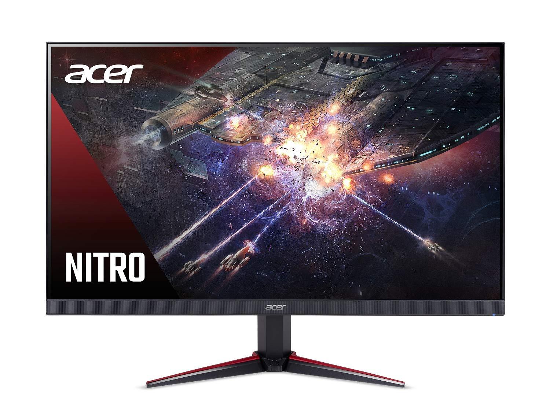 Acer Nitro VG240Y Pbiip 23.8 Inches Full HD 1920 x 1080 IPS Gaming Monitor with AMD Radeon FREESYNC Technology, Zero Frame, 144Hz, 1ms VRB, 2 x HDMI 2.0 Ports 1 x Display Port