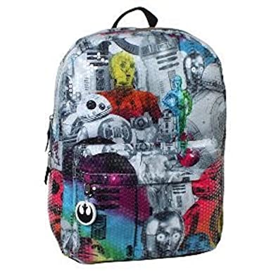 26b1c889fa3d Image Unavailable. Image not available for. Color  Star Wars 16 quot   Sequined Kids Backpack ...