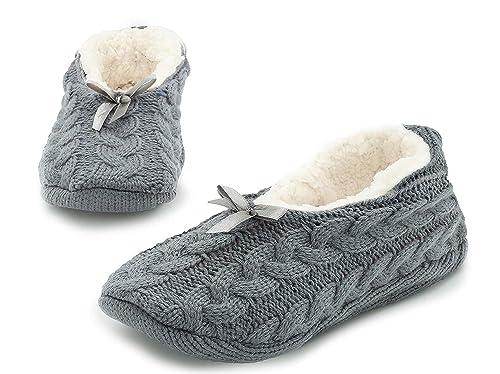 Zapatillas Estar por Casa Mujer Pantuflas Invierno Mujer Zapatos Ballerina: Amazon.es: Zapatos y complementos