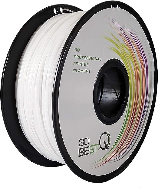 3DBEST-QPETG1.75mm3Dプリンタ用フィラメント一共通の消耗品、高精度+/-0.03mm、高品質、正味重量1kg/リール、7色選択可(白)