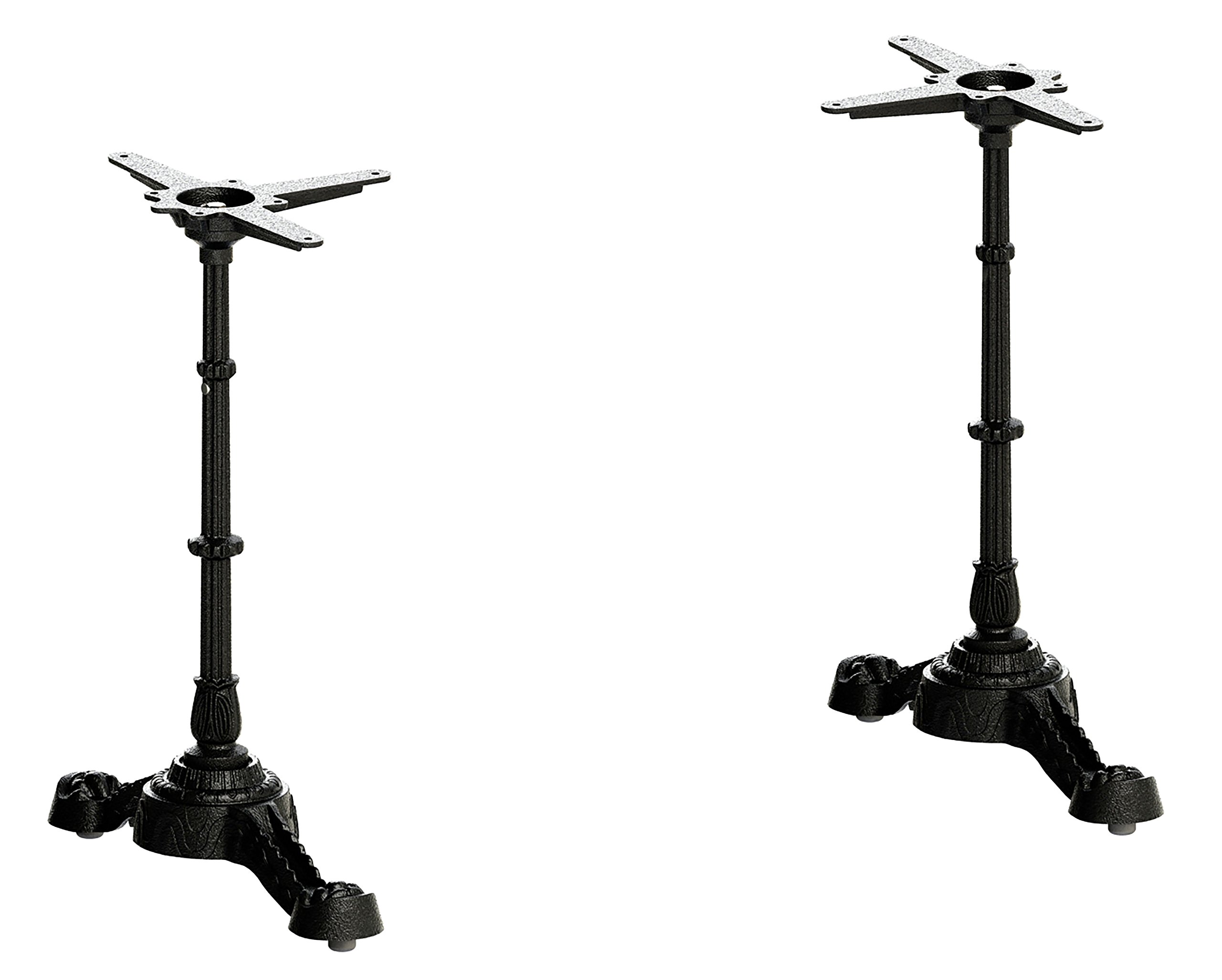 FLAT self-stabilizing PT23 (23'') - cast iron, antique-style, dining height end-base set