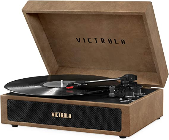 Victrola Parker Bluetooth Suitcase Record Player with 3-Speed Turntable