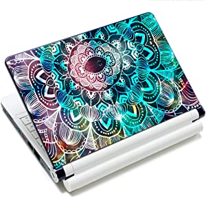 "Laptop Skin Vinyl Sticker Decal, 12"" 13"" 13.3"" 14"" 15"" 15.4"" 15.6 inch Laptop Skin Sticker Cover Art Decal Protector Fits HP Dell Lenovo Compaq Apple Asus Acer (Mandala Arts)"
