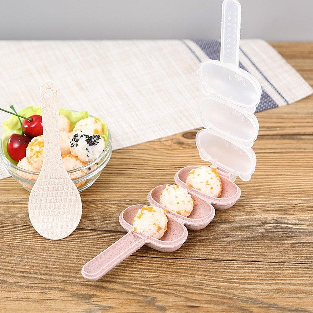 BeautyShe Rice ball cutters, press,sealer,bread &cake mold,ckkie cutters for kids, adult,