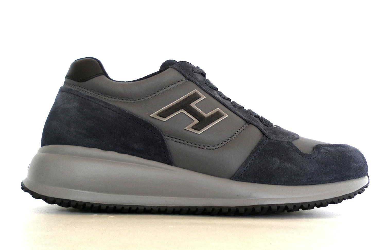 Hogan scarpe uomo interactive N20 H flock modello HXM2460V580E5M639Q pelle  camoscio blu n.39.5  Amazon.it  Scarpe e borse 4af4b7e54f4