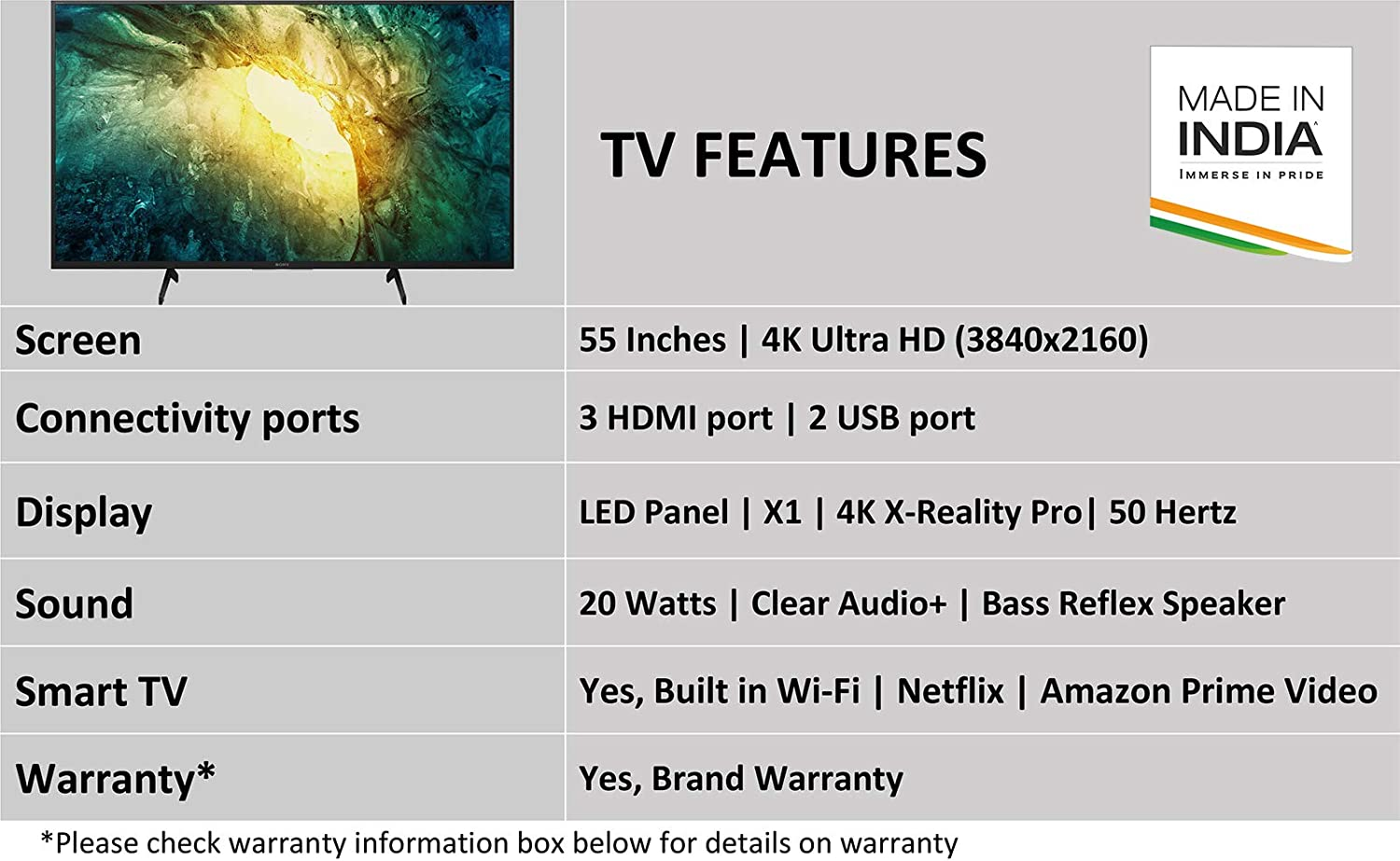 Sony Bravia 138.8 cm (55 inches) 4K Ultra HD Certified Android LED TV
