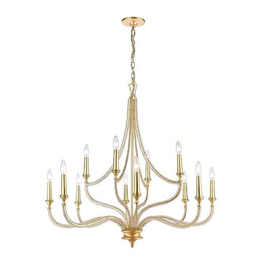 Amazon.com: La Rochelle - Lámpara de techo (12 luces, hoja ...