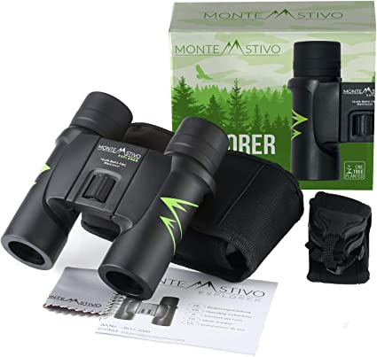 Monte Stivo Explorer Premium Reise Fernglas 10x26 Wasserdicht Mit Anti Beschlagschutz Klein Leicht Kompakt Sport Freizeit