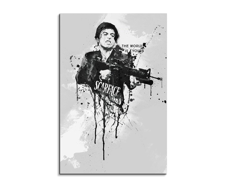 Pacino al scarface 90 x 60 cm-aquarelle billigerLuxus kunstbild art tableau sur toile original paul sinus unique