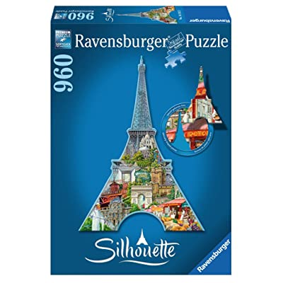Ravensburger Eiffel Tower 960 Piece Jigsaw Puzzle for Adults – Every Piece is Unique, Softclick Technology Means Pieces Fit Together Perfectly: Toys & Games