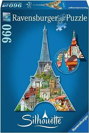 Ravensburger Silhouette Puzzle Eiffel Tower 960pc,Adult Puzzles