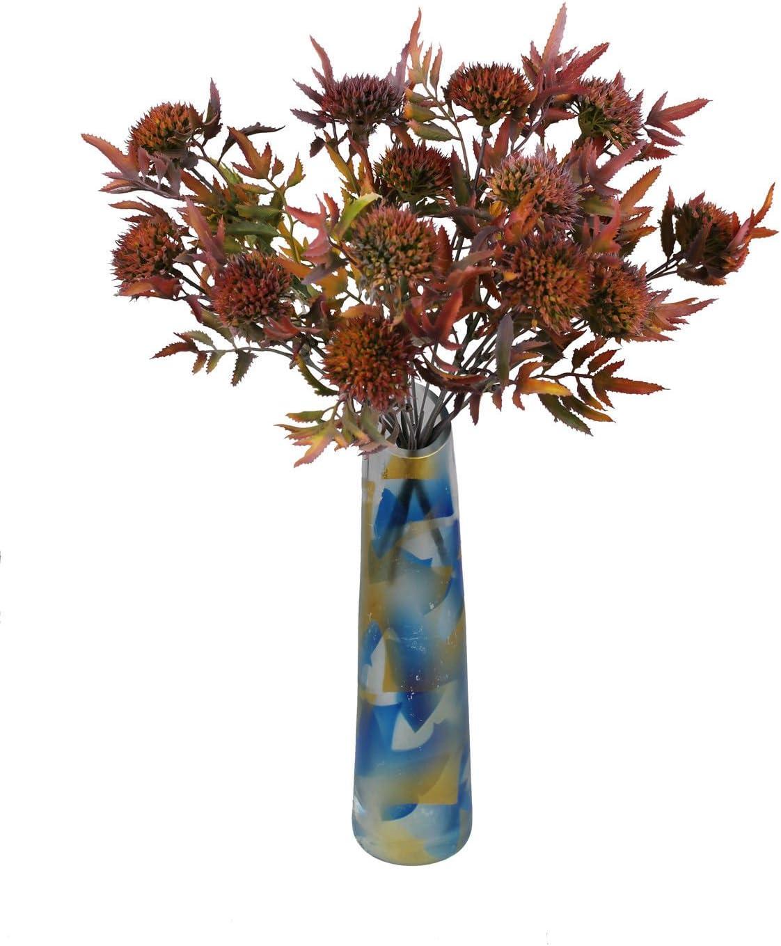 Beerenzweig 32 cm blau GMMH Kunstblumen Blumenstrau/ß Ziergrass/är Gr/ünpflanze Distel Dorn Wilde k/ünstliche Beerenzweig Blumen Hochzeit Party