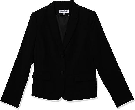 Calvin Klein Women's Two Button Lux Blazer (Petite, Standard, & Plus) at  Amazon Women's Clothing store