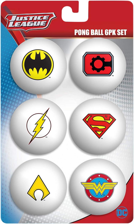 DC Comics Juego de 6 Bolas de la Liga de la Justicia: Amazon.es: Deportes y aire libre