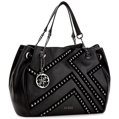 56557075df Guess Sac a Main Satchel Isabeau HWISASP7306 Noir multi: Amazon.fr ...