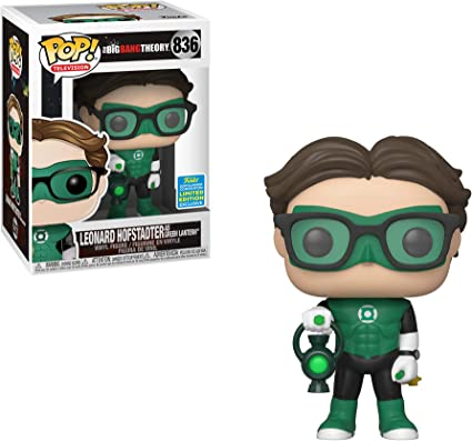 Summer Convention The Big Bang Theory Leonard Hofstadter as Green Lantern Limited Edition Vinyl Figure