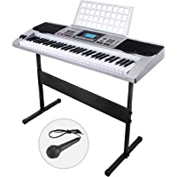 LAGRIMA Electric Piano Keyboard 61 Key Music Digital Electronic Keyboard Organ Touch Sensitive with Stand