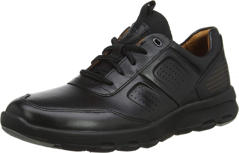 Schwarz (schwarz Leather 001) 46.5 EU Rockport Herren Lets Walk Mens Ubal Turnschuhe