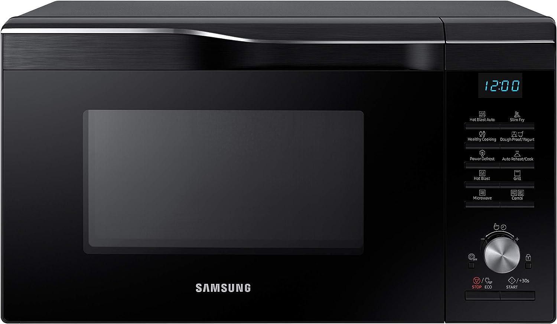 Samsung MC28M6055CK/EG - Microondas combinado con grill y aire caliente (900 W, 28 L, 51,7 cm de ancho, HotBlast, Slim-Fry), color negro