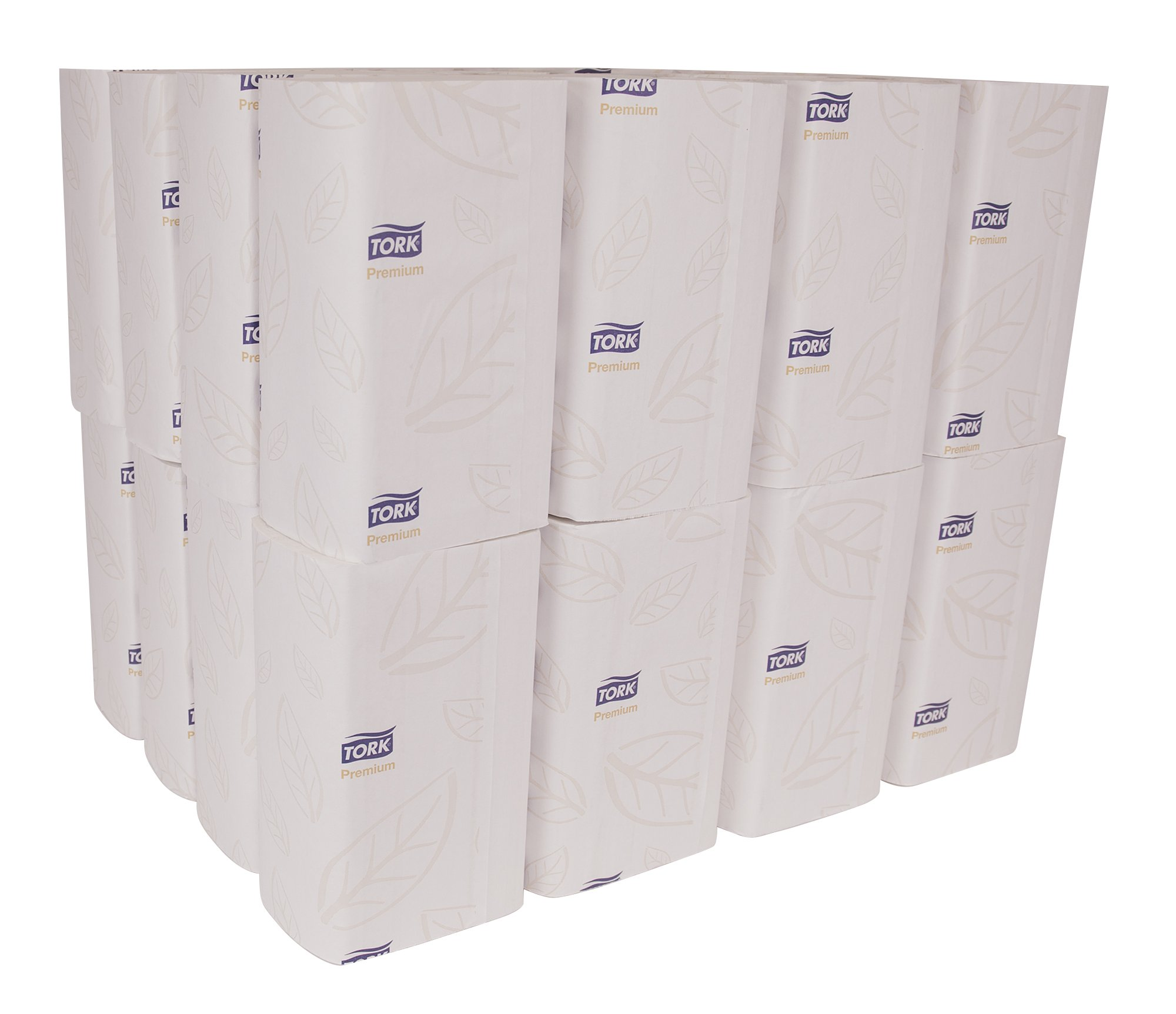 Tork Premium MB574 Soft Xpress Multifold Paper Hand Towel, 4-Panel, 2-Ply, 8.4'' Width x 14.5'' Length, White (Case of 32 Packs, 94 per Pack, 3,008 Towels) by Tork (Image #2)