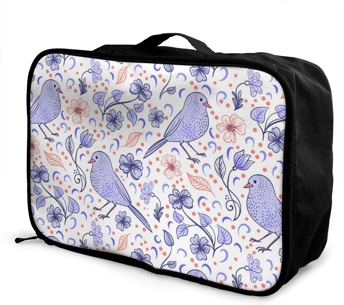 Cute Animal Travel Carry-on Luggage Weekender Bag Overnight Tote Flight Duffel In Trolley Handle