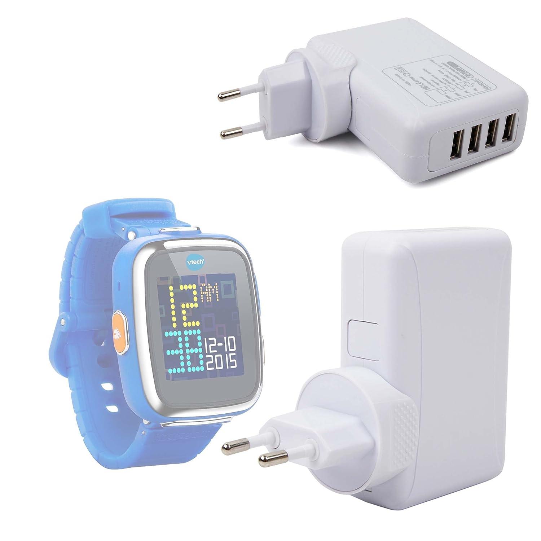 Cargador 4 X USB De Pared Compatible con VTECH Kidizoom Smartwatch ...