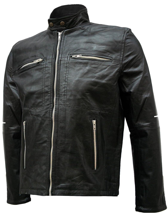 Premium Quality Black Men's Black Leather Jacket