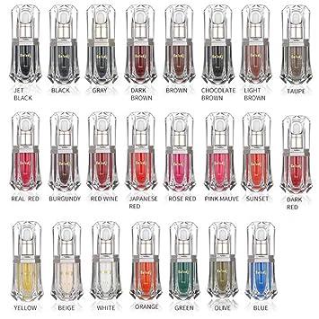 Color de tatuaje, color de línea de brillo de labios de 23 colores ...