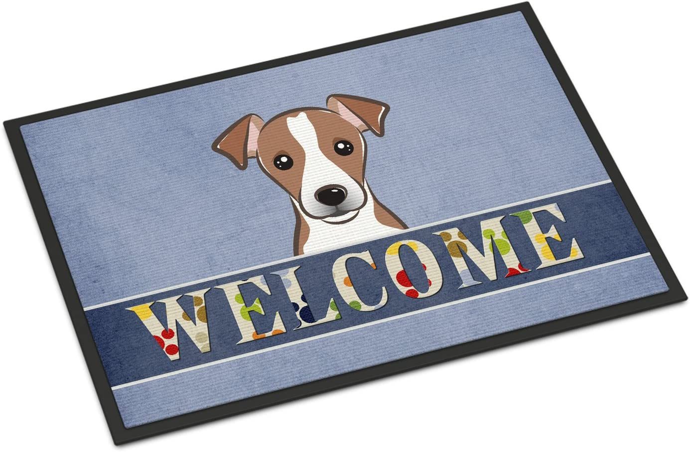 Caroline's Treasures BB1446MAT Jack Russell Terrier Welcome Indoor or Outdoor Mat 18x27, 18H X 27W, Multicolor