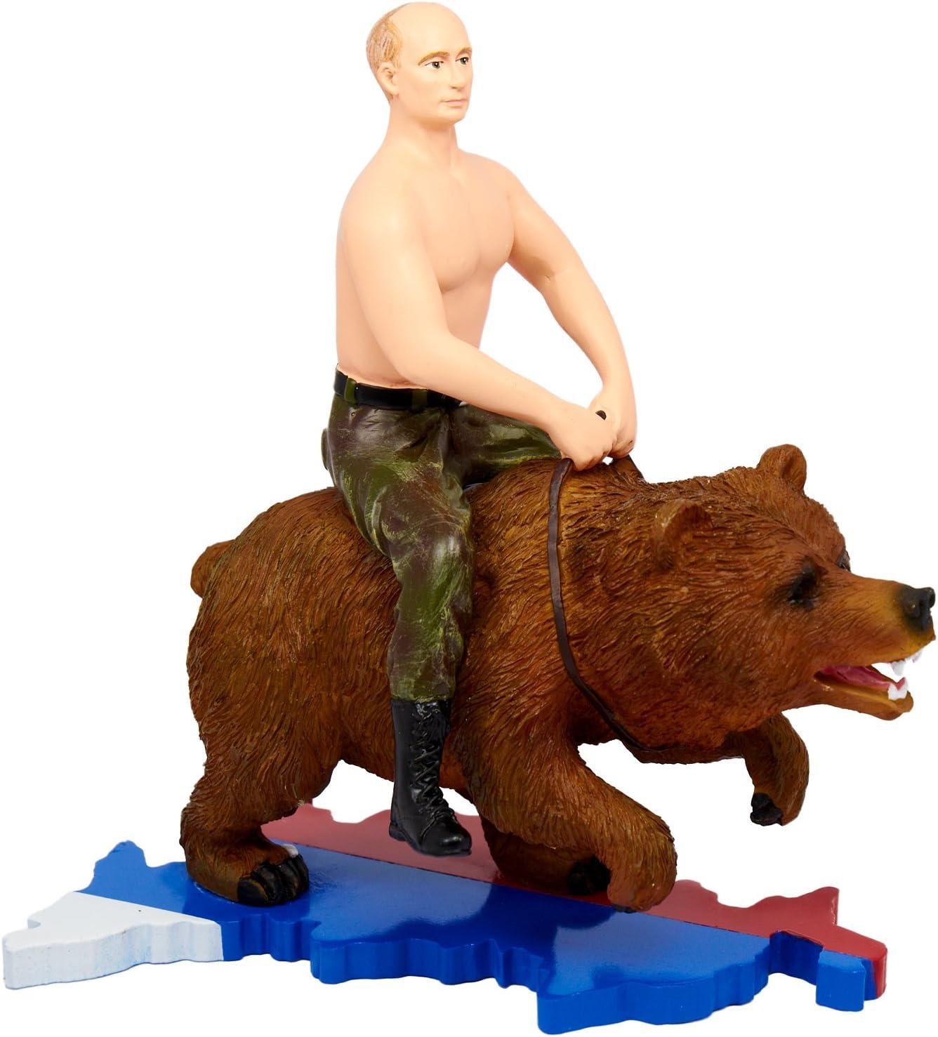 Putin Riding On A Bear Action Figure Amazon Co Uk Toys Games