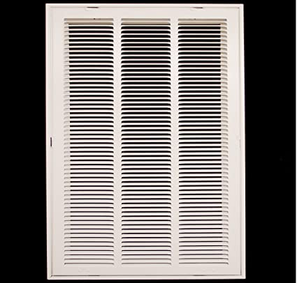 """14"""" x 20 steel return air filter grille for 1"""" filter - fixed hinged ..."""