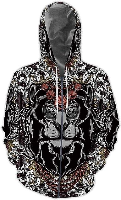 IOVEQG Mens Zip Up Hoodie Jacket Winter Jacket