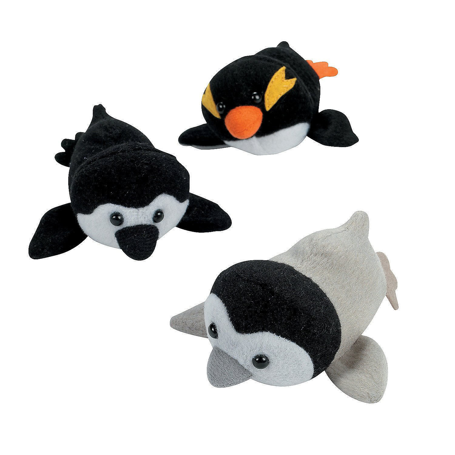 Fun Express - Mini Penguin Plush - Toys - Plush - Bean Bag Animals - 12 Pieces