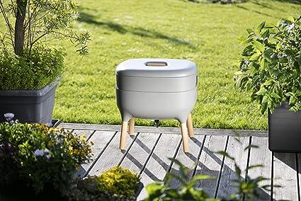Compostador de diseño, compostador de gusano, Gris