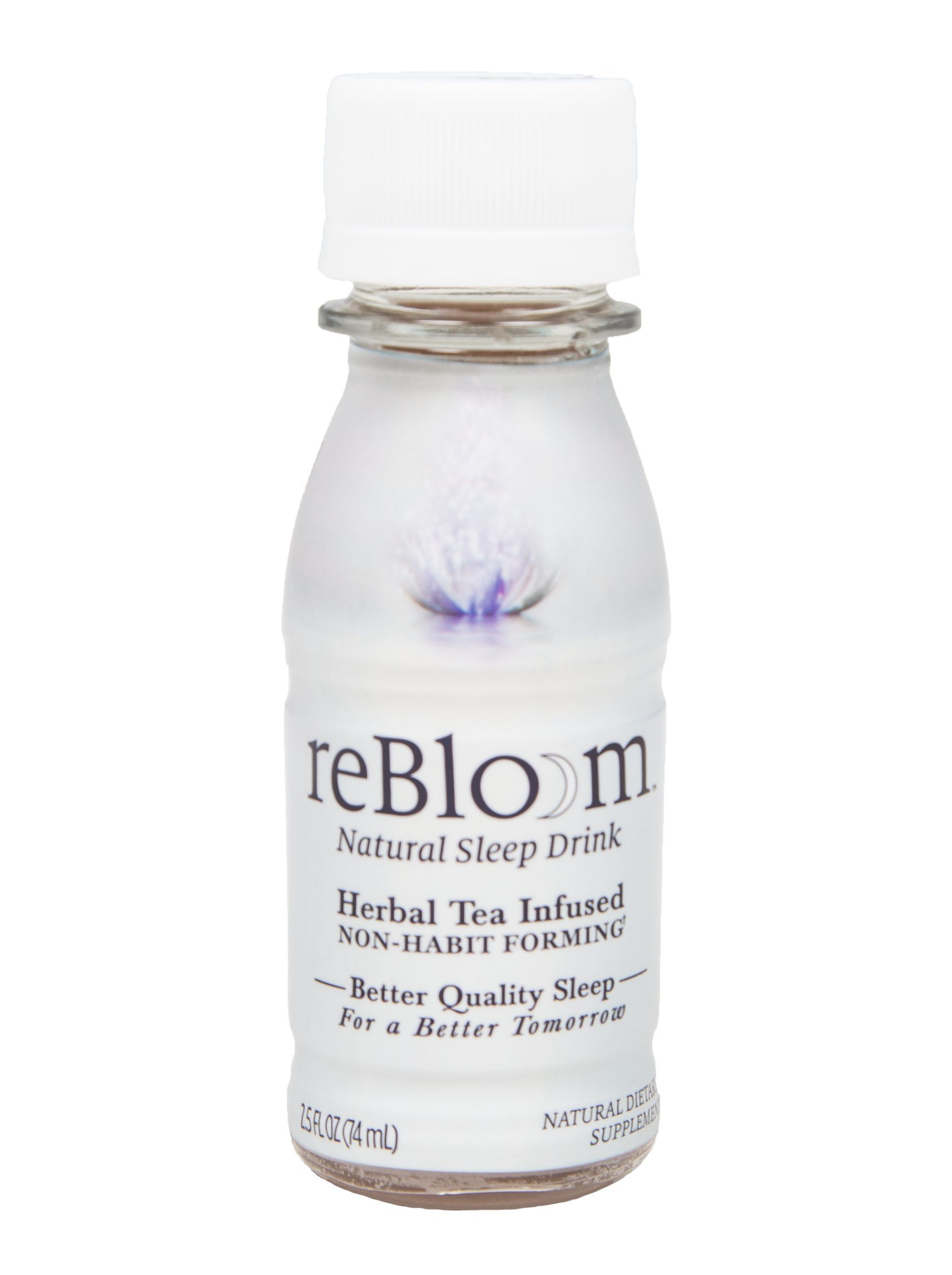 REBLOOM Natural Sleep Aid with Melatonin, Valerian & Chamomile,Herbal Sleeping Supplement Drink 7-Bottle Pack (2.5 fl. oz. each),Non-Habit Forming Pill Alternative,With Magnesium and Vitamin E & B-12