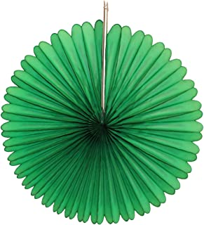 product image for 3-pack 13 Inch Tissue Paper Party Fans (Dark Green)