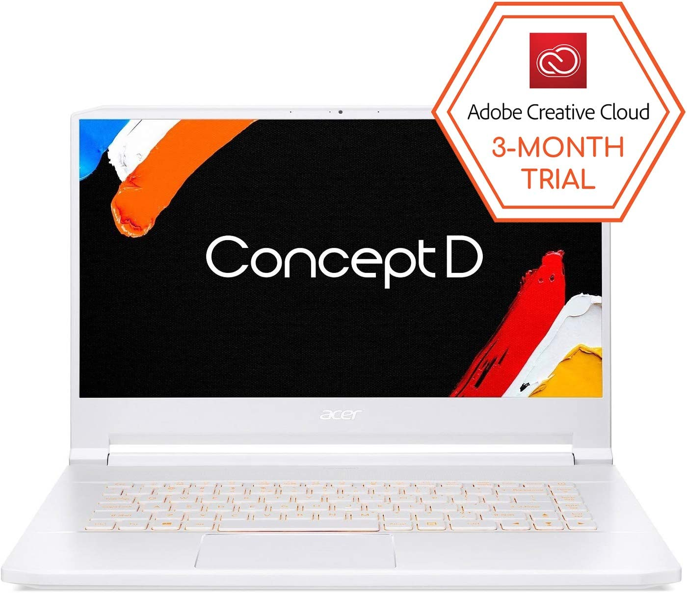 "ConceptD 7 Pro CN715-71P-727W Creator Laptop, Intel i7-9750H, NVIDIA Quadro RTX 3000, NVIDIA RTX Studio, 15.6"" 4K Ultra HD IPS, 100% Adobe RGB, Pantone Validated, Delta E<2, 32GB DDR4, 1TB NVMe SSD"