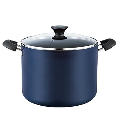 Cook N Home 02474 Nonstick Stockpot 10.5 Quart Blue