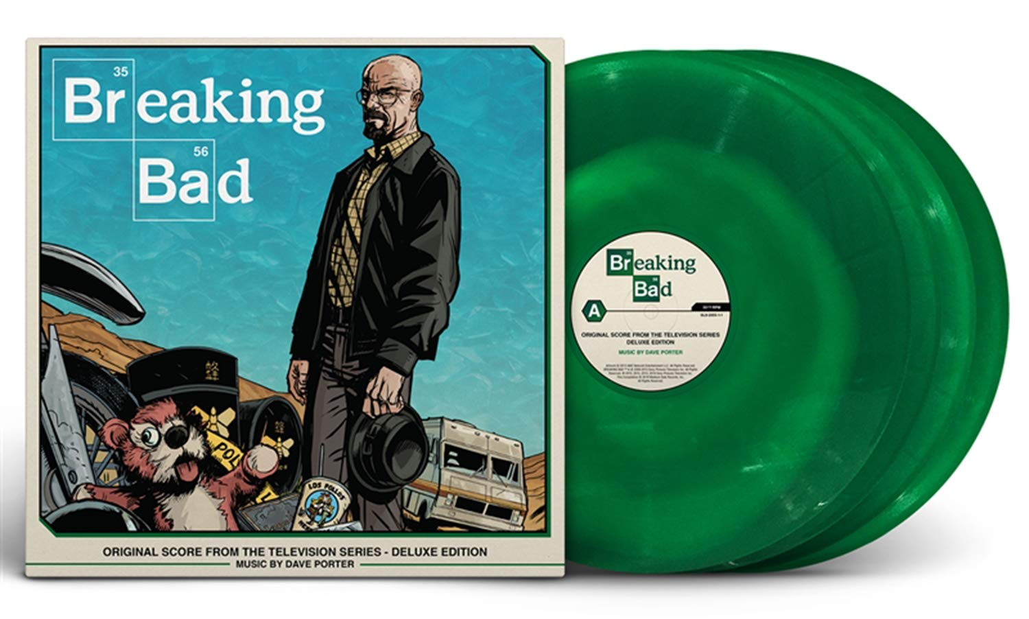 Dave Porter - Breaking Bad: Original Score From The Television Series - Deluxe 4x lp Box Set [ NYCC ''Green Smoke'' Variant] by SPACELAB9